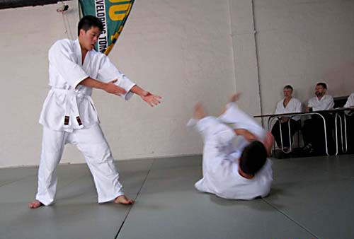 Kyu grading being taken at Leichhardt Dojo