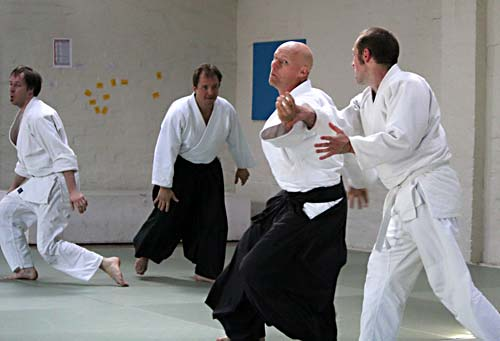 Kyu grading at Leichhardt Dojo - 3 person attack.