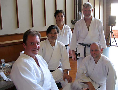 Sugano Sensei with members of Blue Mountains Aikido. Summer school 2010.
