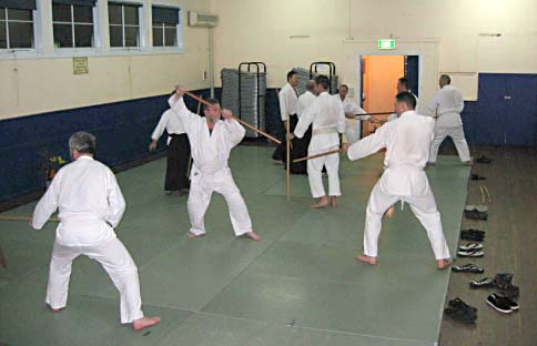 Training at Faulconbridge dojo